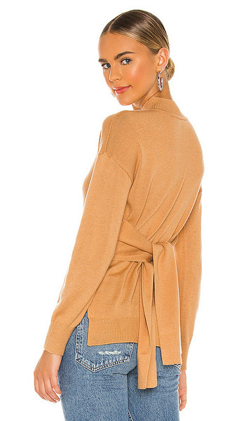 LPA Sahra Turtleneck Sweater in Tan in camel