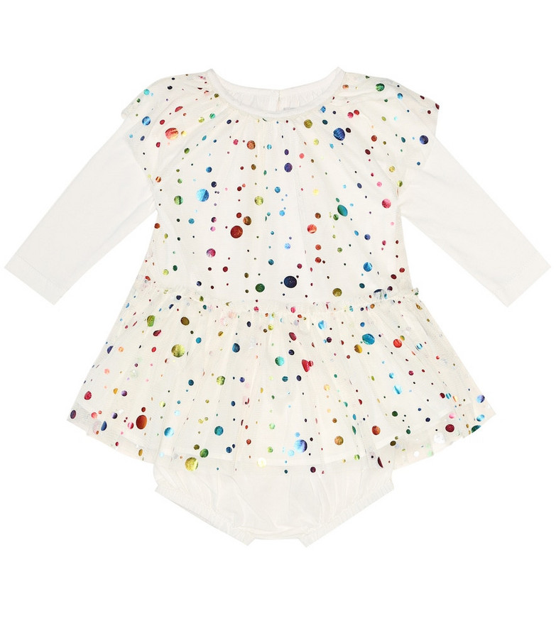 Stella McCartney Kids Baby cotton dress and bloomers set in white