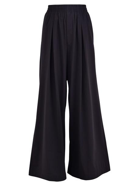 Y-3 Wide Leg Trousers in black