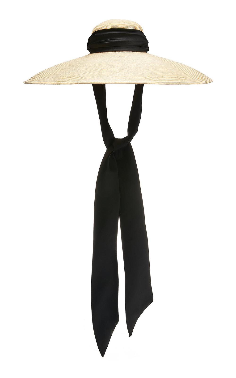 Eugenia Kim Veruschka Cotton-Trimmed Straw Hat in neutral