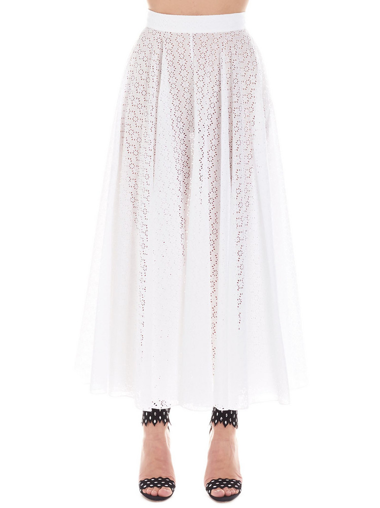 Alaia 'broderie Anglais' Skirt in white