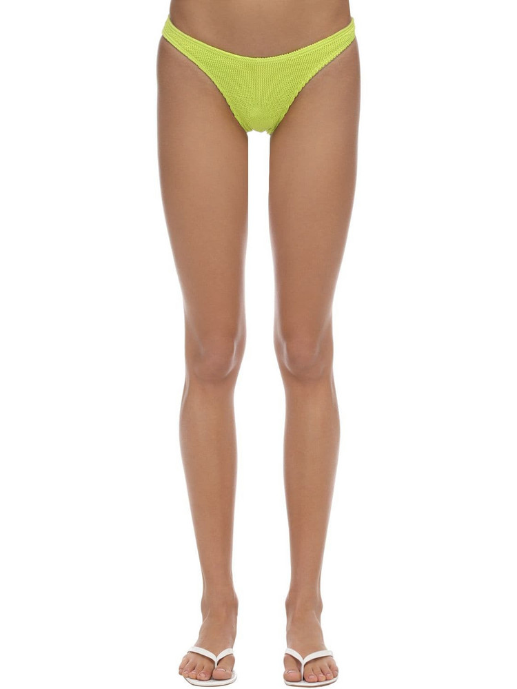 BOND EYE Scene Seersucker Bikini Bottoms in yellow