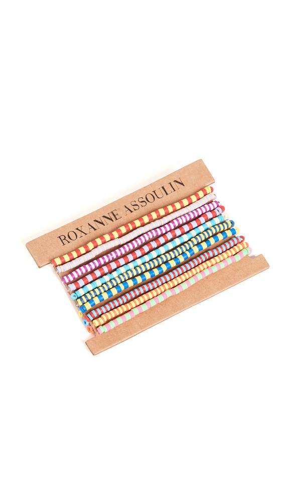 Roxanne Assoulin Happy Stripes Set of Ten Bracelets in multi