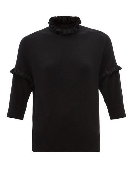 Chloé Chloé - Ruffled Cashmere Top - Womens - Black