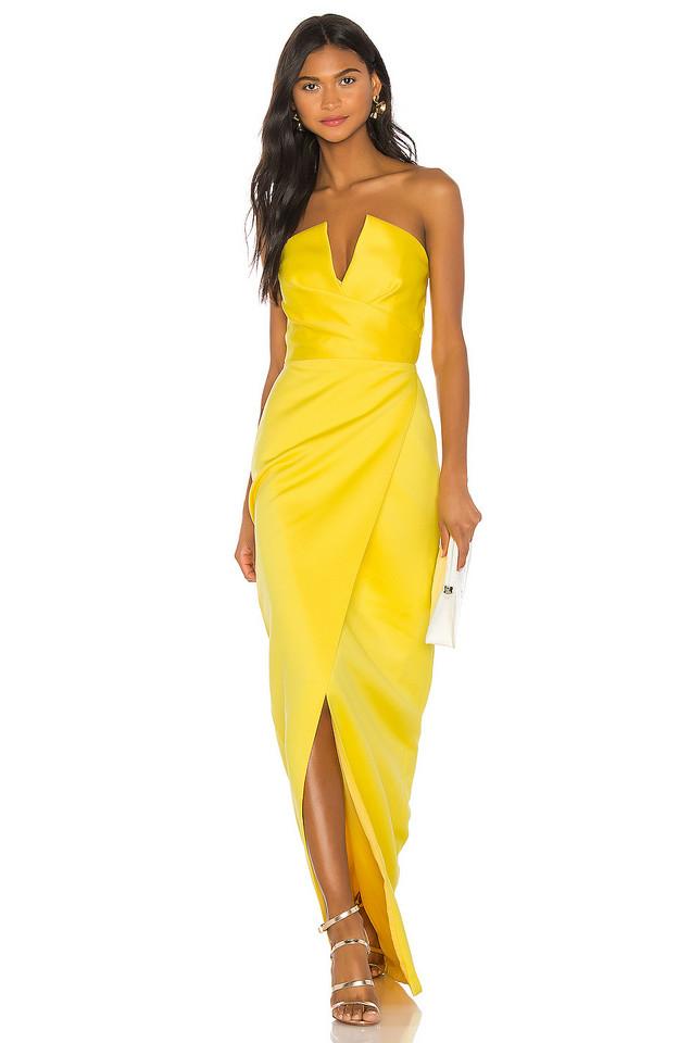 Jay Godfrey Darcy Gown in yellow