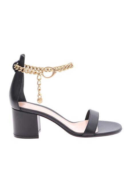 Gianvito Rossi Chain Strap Sandals in black