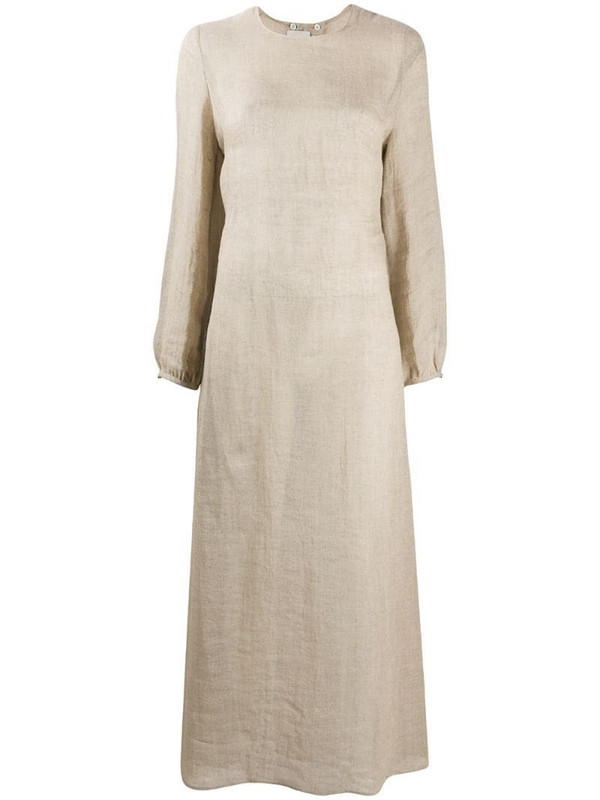 Le Kasha Aftieh open back dress in neutrals