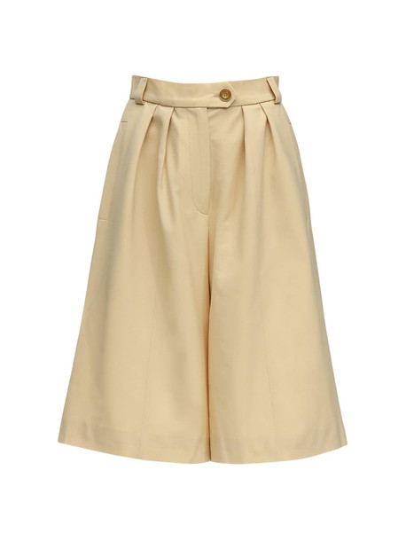 LESYANEBO Cool Wool Bermuda Shorts in yellow