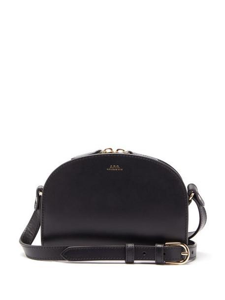 A.P.C. A.p.c. - Half Moon Mini Smooth Leather Cross Body Bag - Womens - Black