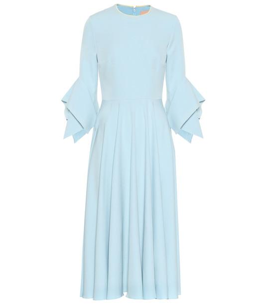 Roksanda Ayres crêpe midi dress in blue