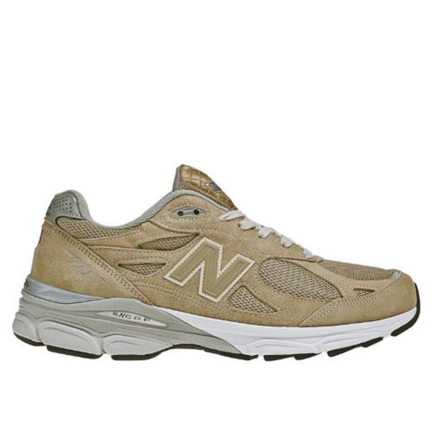 New Balance 990v3 Men's Made in USA Shoes - Beige, White (M990BG3)