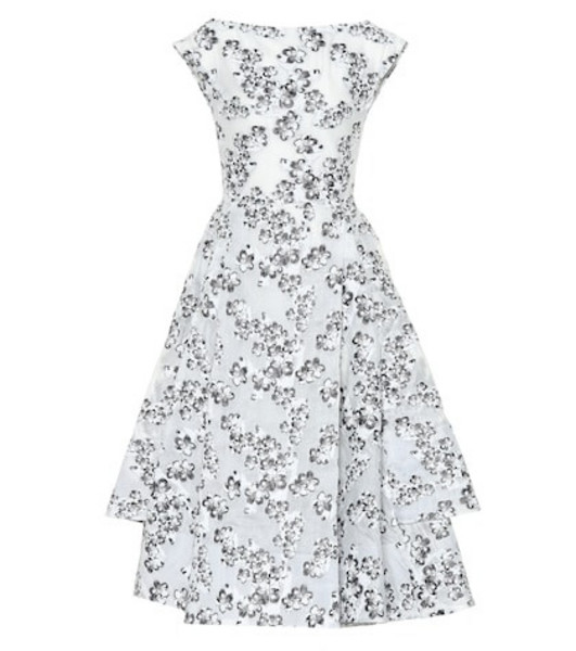 Maticevski Innocents floral jacquard dress in grey