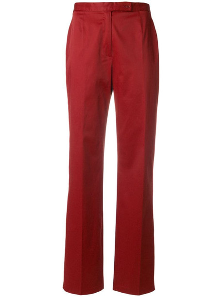 Moschino Pre-Owned high-rise flared trousers in red