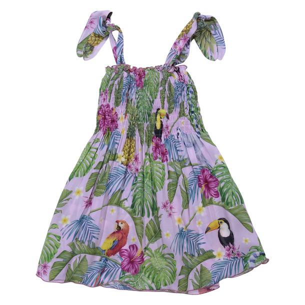 MC2 Saint Barth Tropical Print Pink Viscose Dress