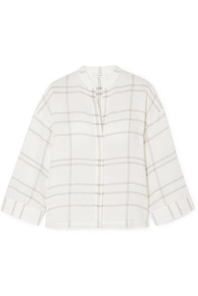 Vince - Carpinteria Checked Gauze Shirt - White