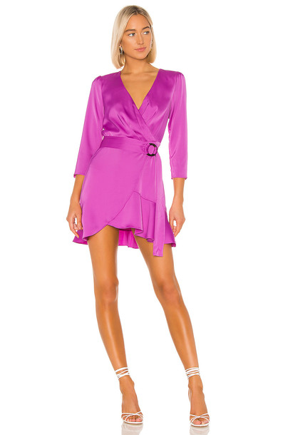 The East Order Tilly Mini Dress in purple