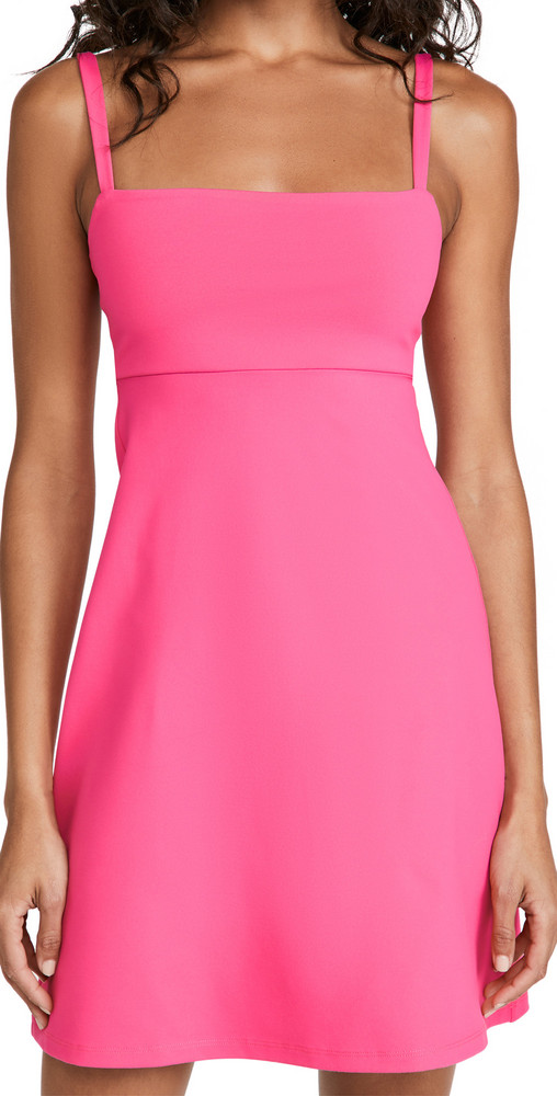 Susana Monaco Open Back Tank Flare Dress in pink