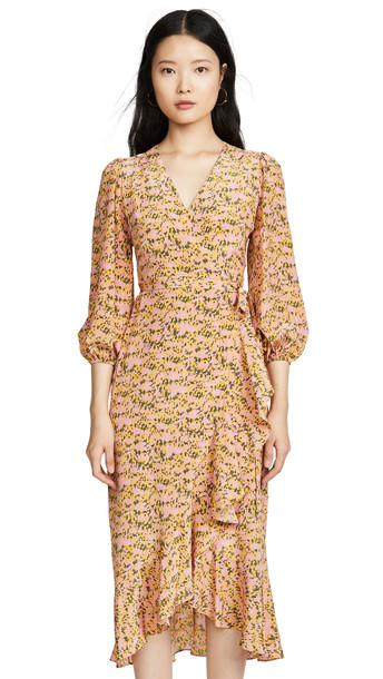 No.6 Noma Wrap Dress in pink