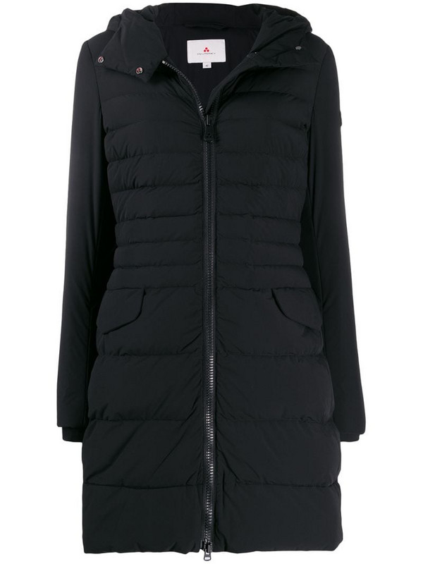 Peuterey padded hooded coat in black