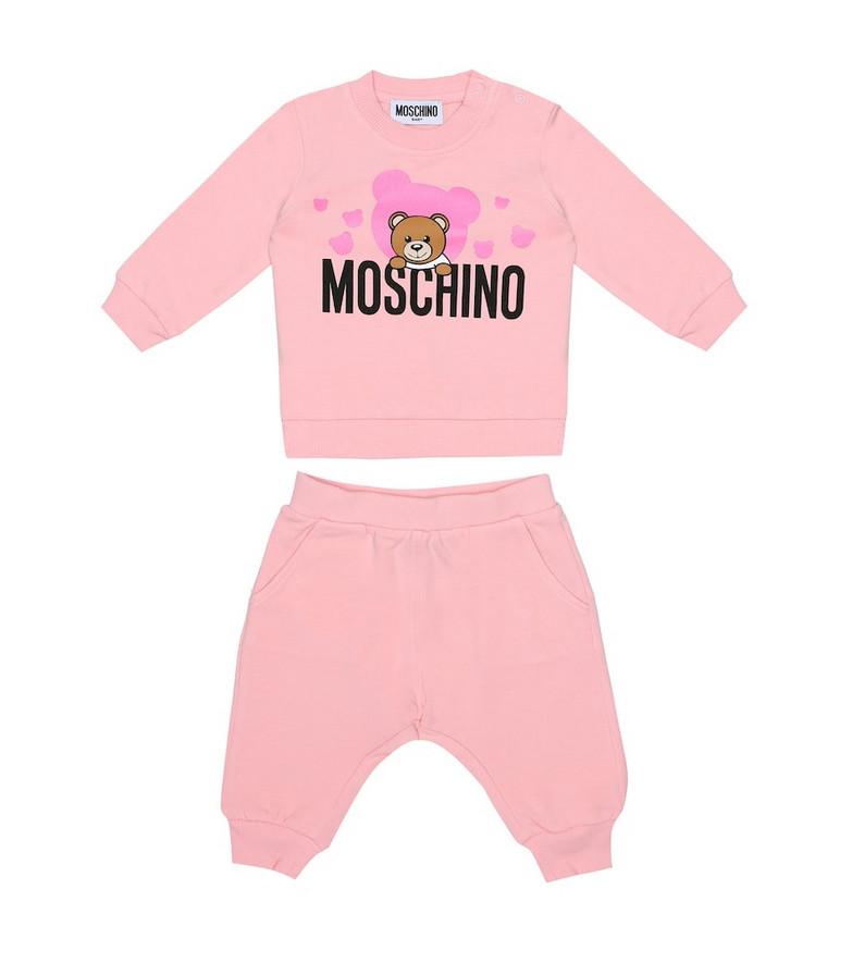 Moschino Kids Baby sweatshirt and trackpants set in pink