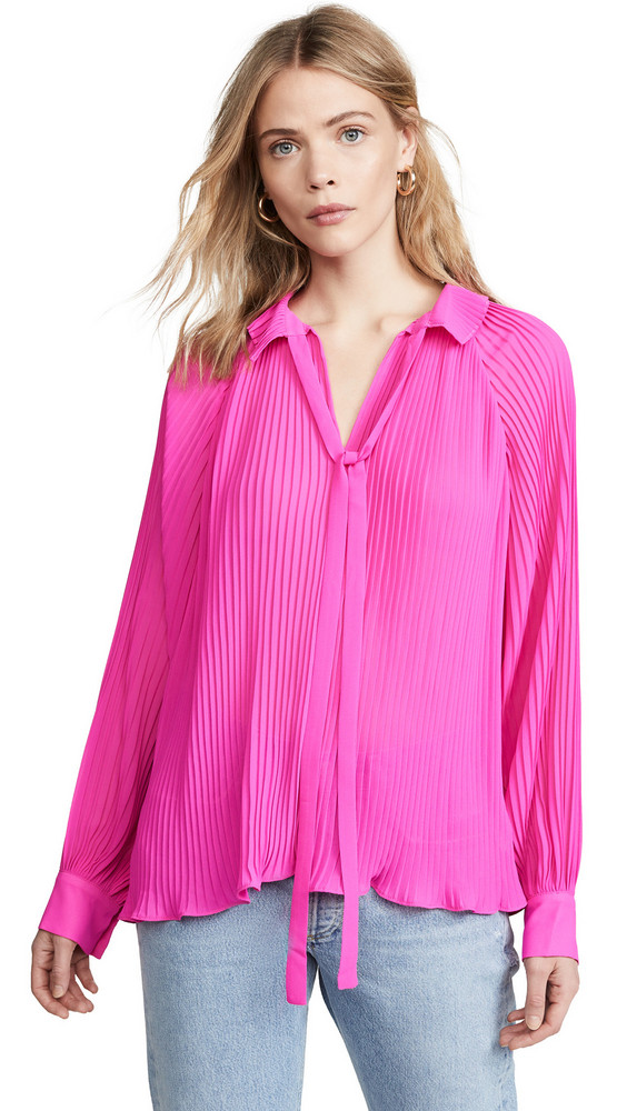 endless rose Pleated Chiffon Blouse in pink