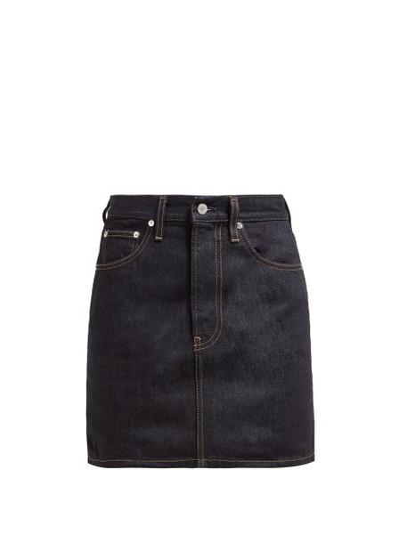Helmut Lang - Femme Denim Mini Skirt - Womens - Dark Denim
