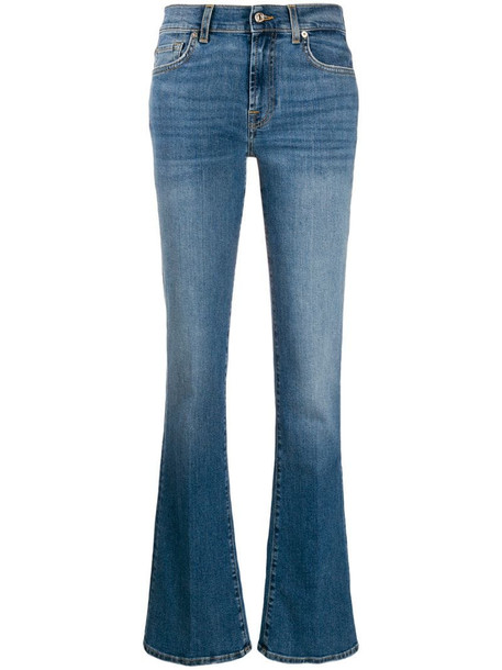 7 For All Mankind flared style jeans in blue