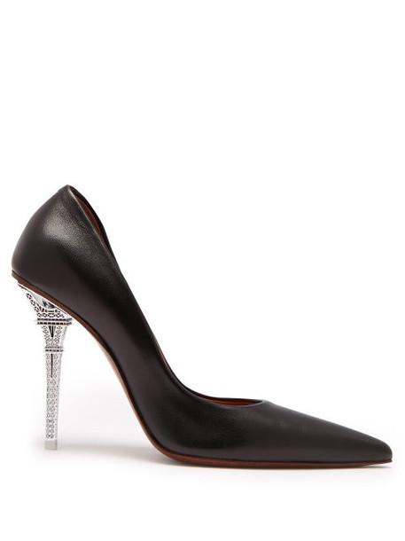 Vetements - Eiffel Tower Heel Leather Pumps - Womens - Black