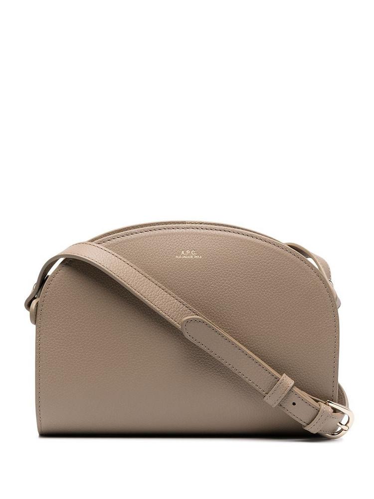 A.P.C. A.P.C. logo-print crossbody bag - Brown