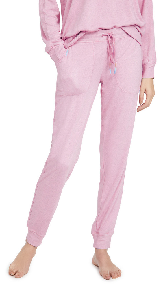 PJ Salvage Colorful Classic Jam Pants in rose / lilac