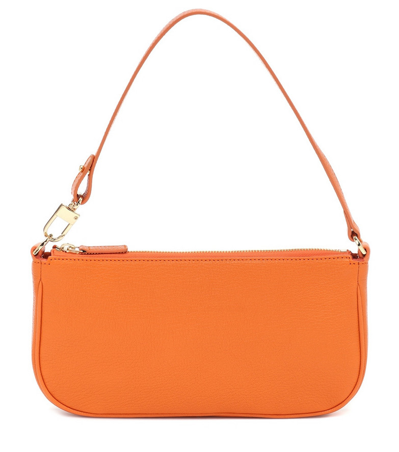 By Far Exclusive to Mytheresa – Rachel leather shoulder bag in orange