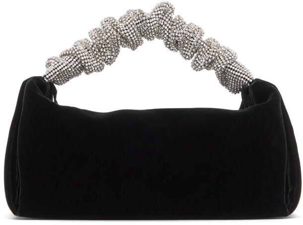 Alexander Wang Black Mini Rhinestone Scrunchie Bag