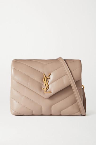SAINT LAURENT - Loulou Toy Quilted Leather Shoulder Bag - Beige