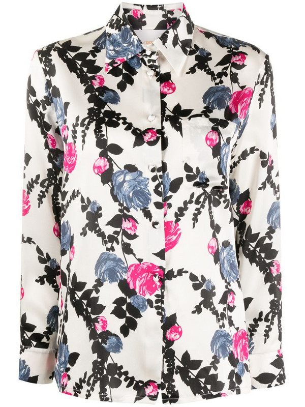 La Doublej floral-print shirt in white