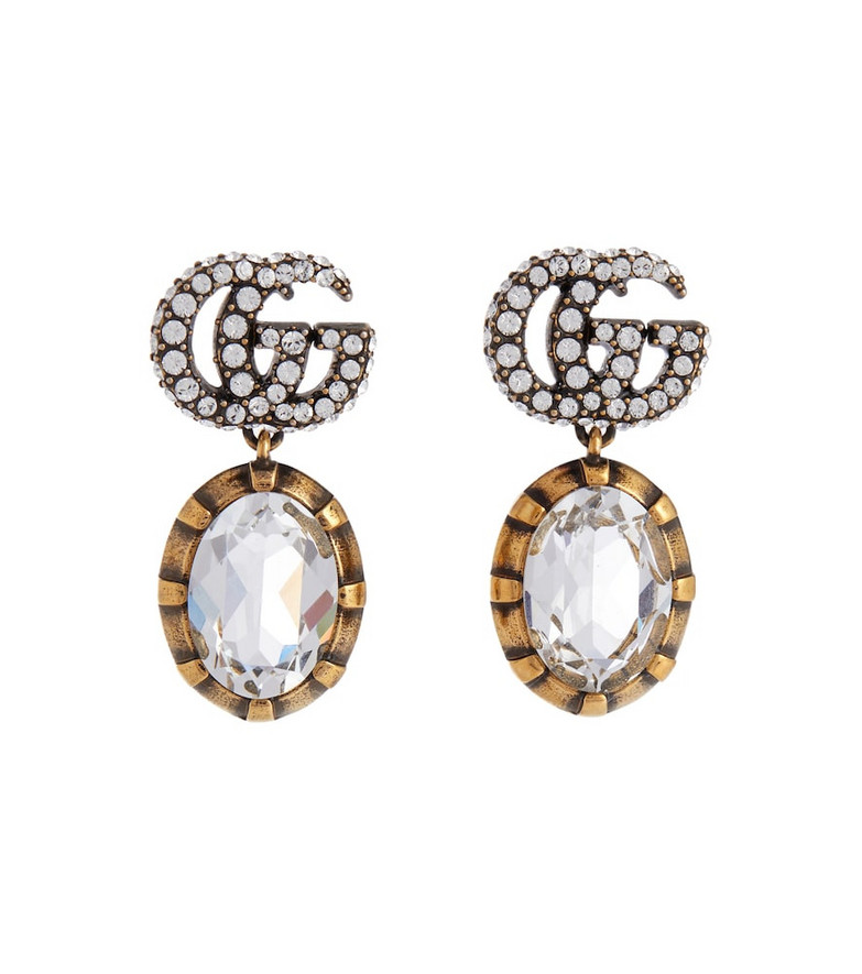 Gucci Double G embellished earrings in gold