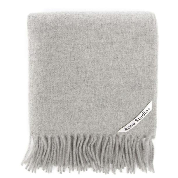 Acne Studios Canada Nr New Grey Wool Scarf