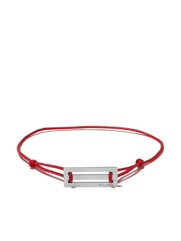 Le Gramme 25/10g cord bracelet in red / silver