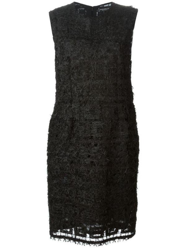 Jean Louis Scherrer Pre-Owned feather-knit dress in black
