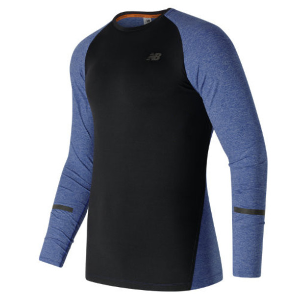 New Balance 61020 Men's Trinamic Long Sleeve Top - Blue/Black (MT61020MBH)