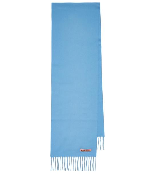 Acne Studios Wool scarf in blue