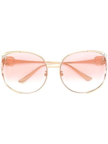 Gucci Eyewear oversized round-frame sunglasses in metallic