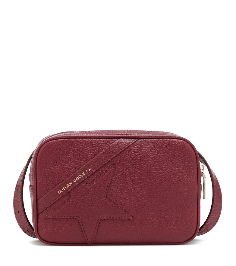 Golden Goose Star Mini leather belt bag in red