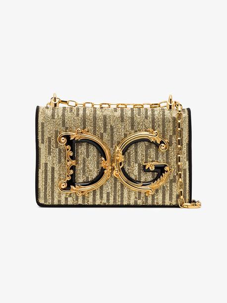 Dolce & Gabbana DG Girls logo shoulder bag in black