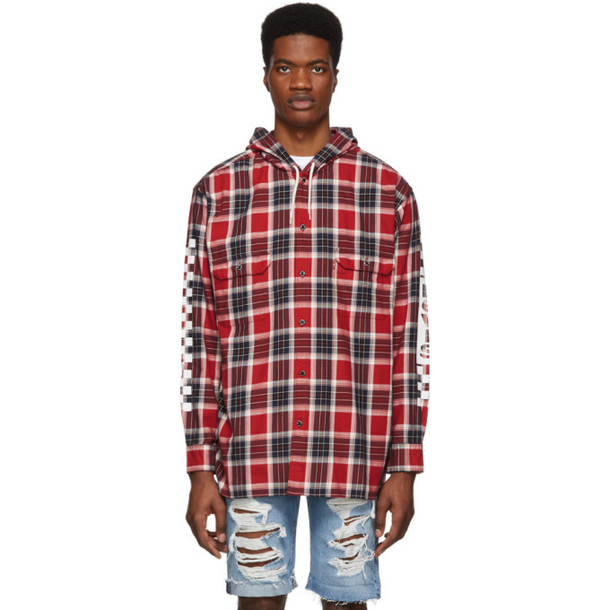 Levi's Red Check Linka Hooded Shirt