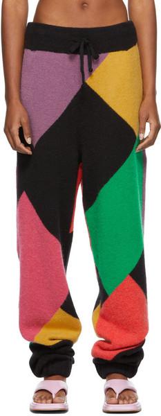 Palm Angels Mulitcolor Missoni Edition Alpaca Lounge Pants in black / multi