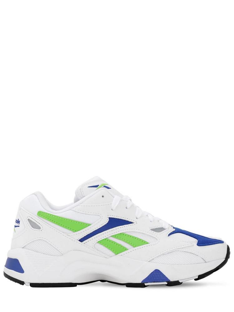 REEBOK CLASSICS Aztrek 96 Mesh & Leather Sneakers in white