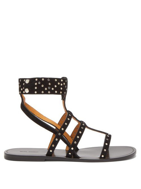 Isabel Marant - Jestee Studded Suede Sandals - Womens - Black