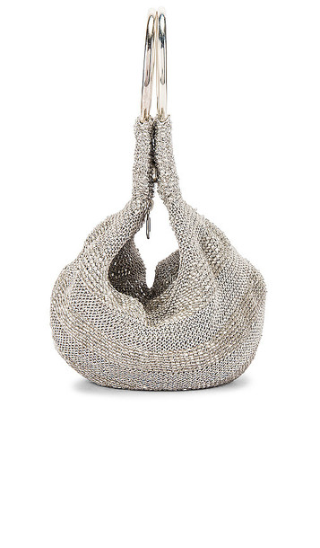 From St Xavier Goldie Tote in Metallic Silver