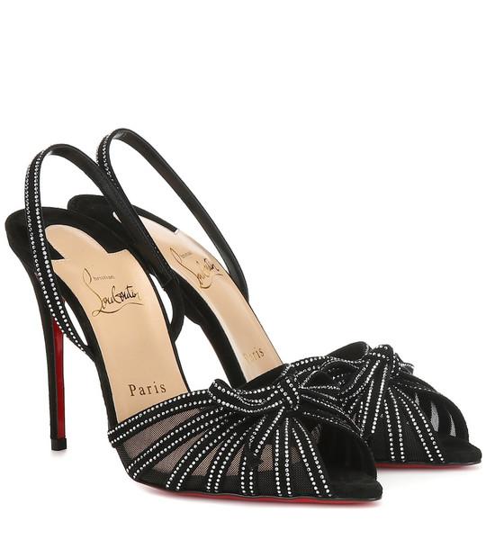 Christian Louboutin Araborda 100 suede sandals in black