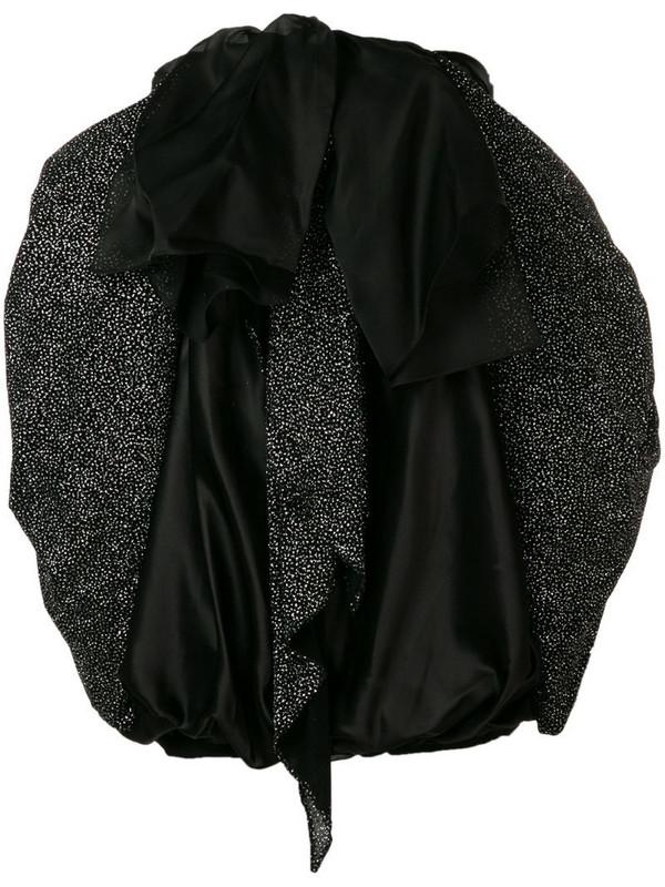 Redemption off-shoulder bow dress in black